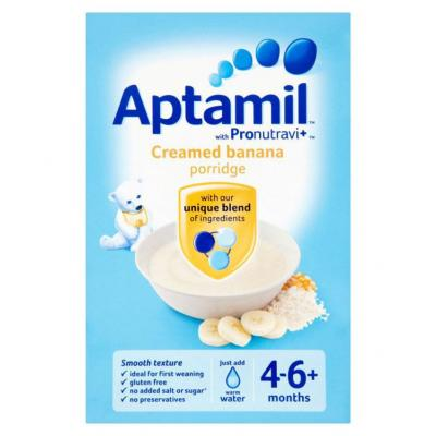 Aptamil Baby Food Aptamil Creamed Banana 125g Infant Cereal for 6 Months +