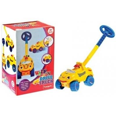 Funskool Walk N Drive Truck  (Yellow, Blue)