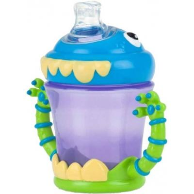 Nuby Two-Handle iMonster No-Spill Super Spout Cup - 206 ml  (AS PICTURED)
